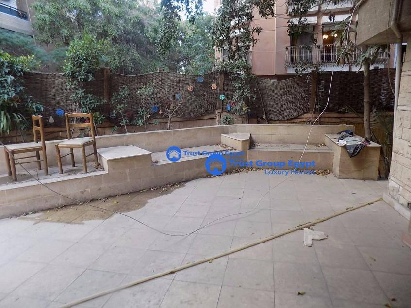 Semi-Furnished ground floor for rent in Maadi Degla