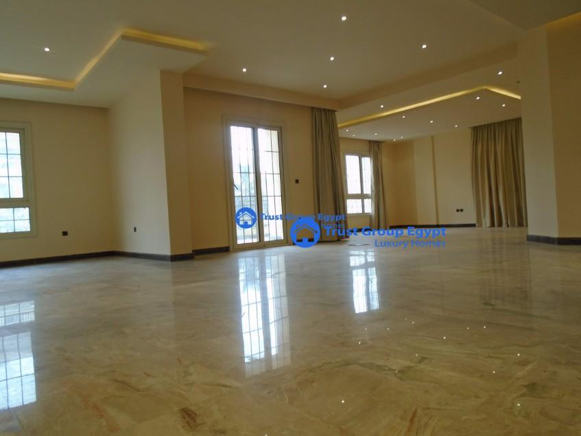 Bran New Apartment for rent in west golf new cairo with good view