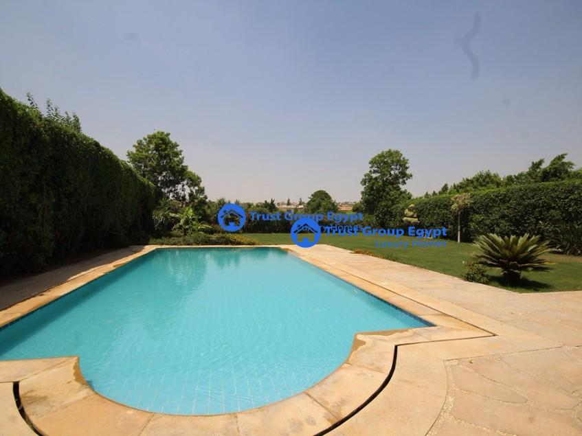 Beautiful and Very Bright with amazing swimming pool villa for rent in katameya highets