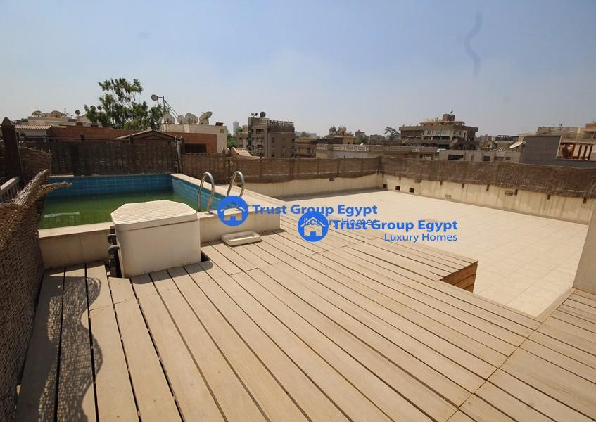 wonderful open view pent house for Rent in Excellent Location in maadi saryaat